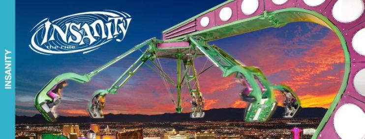 Um dos brinquedos do Hotel Stratosphere, o Insanity. Foto do site