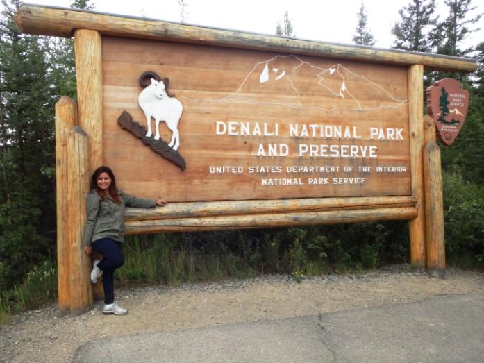 Entrada do Denali no Alasca