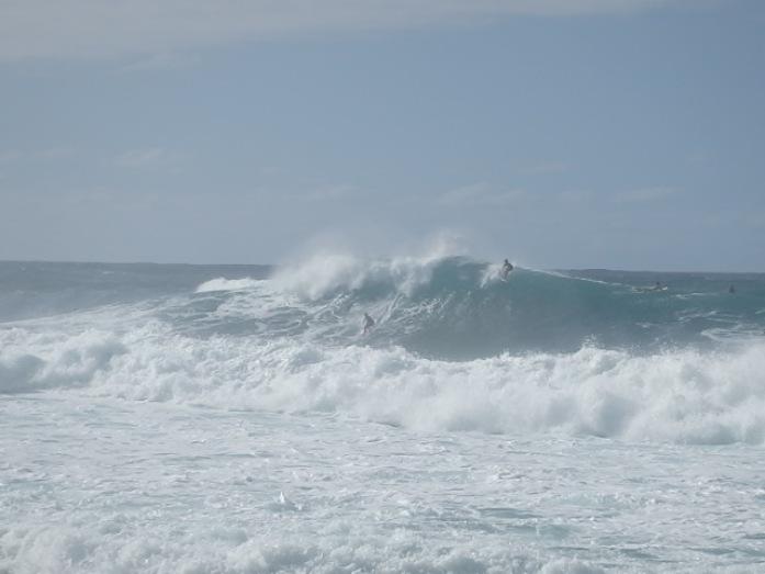 As ondas gigantes em Banzai Pipeline