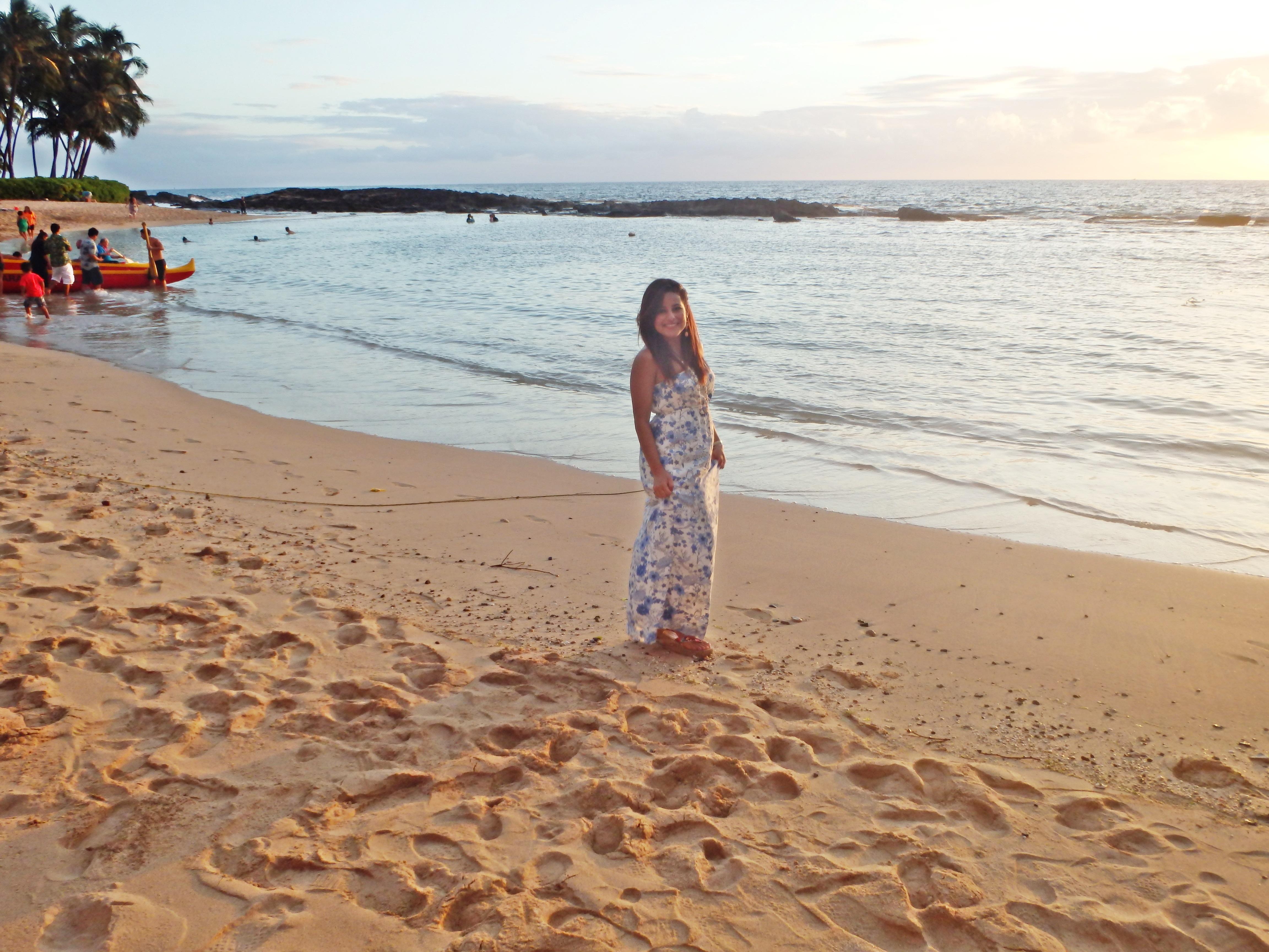 Na beira da praia em Paradise Cove