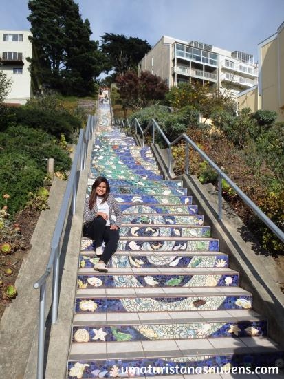 escadaria de mosaico em San Francisco