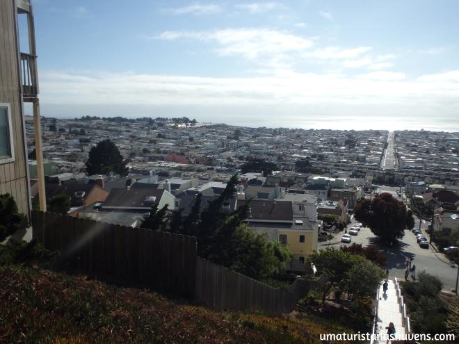 escadaria de mosaicos em San Francisco