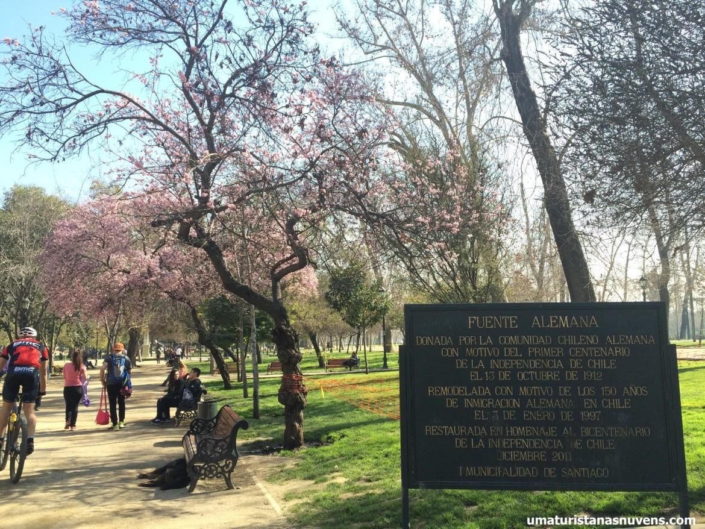 parque florestal em Santiago