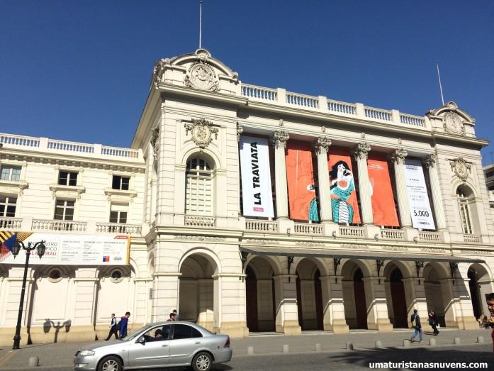 teatro municipal em Santiago